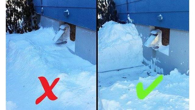 Be Careful Of A Snow Blocked Dryer Vent Westside