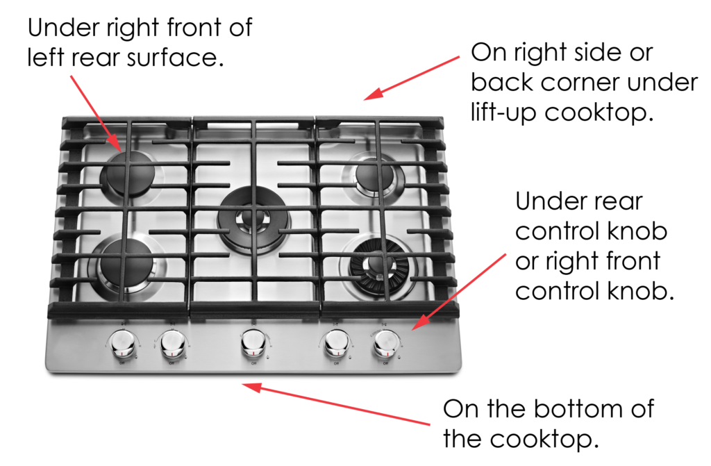 Where To Find Appliance Model Serial Number Cooktop