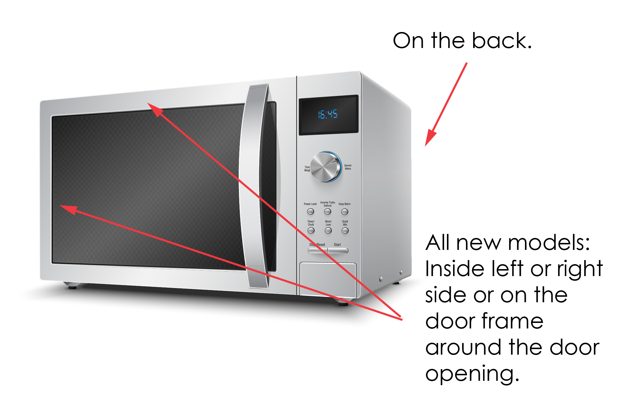 Where To Find Appliance Model Serial Number Microwave